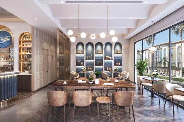 Phối cảnh không gian nội thất shophouse dự án Meyhomes Capital Phú Quốc. Ảnh: Tân Á Đại Thành